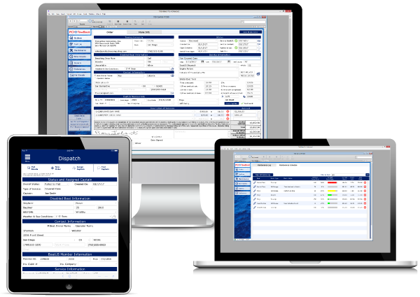 Vessel Service Solutions on multiple devices
