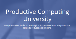 Productive Computing University Training Courses