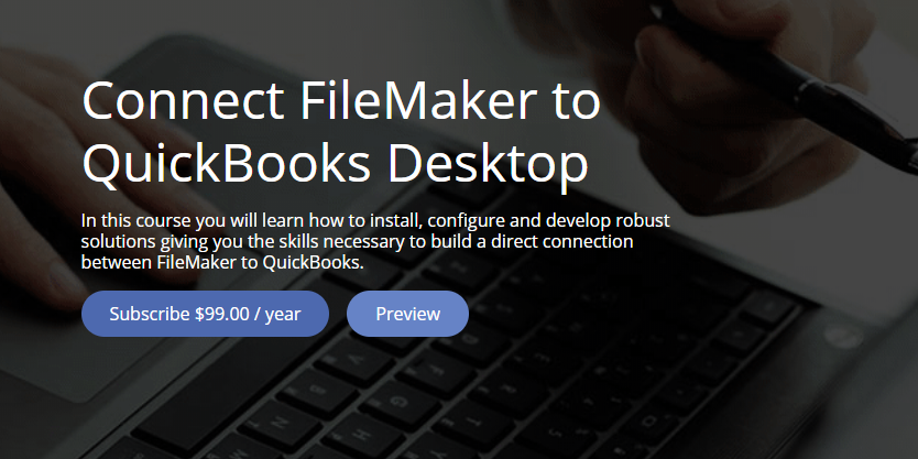 FileMaker Training Course - Connect FileMaker to QuickBooks