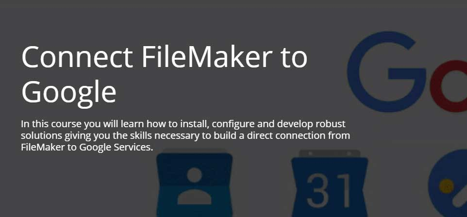 Connect FileMaker to Google