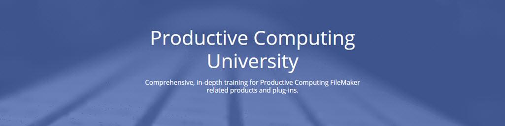 Productive Computing University Training Courses