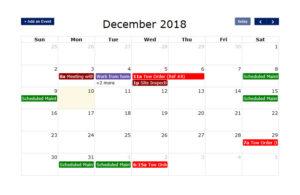 VSS Calendar