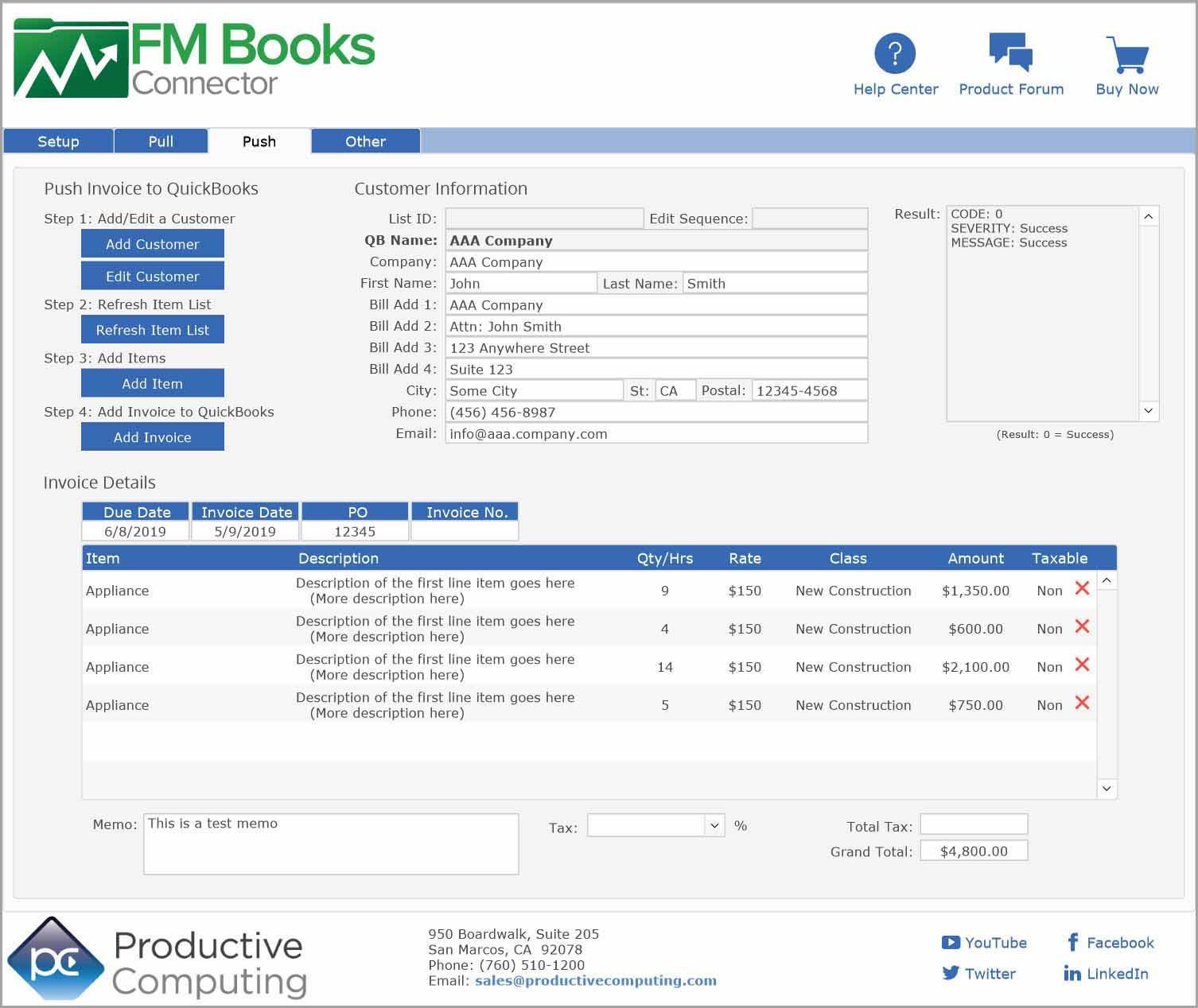 quickbooks validation code phone number
