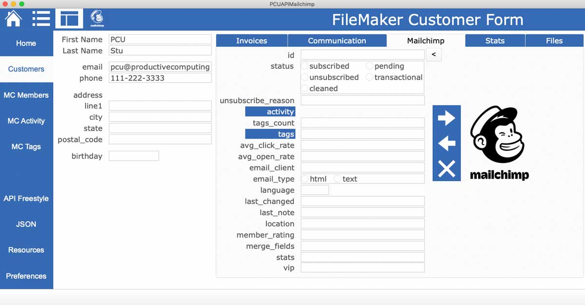 FileMaker_Mailchimp_Dashboard