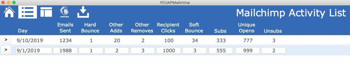 FileMaker_Mailchimp_data