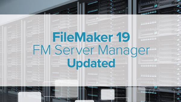 FM Server Manager for FileMaker Server