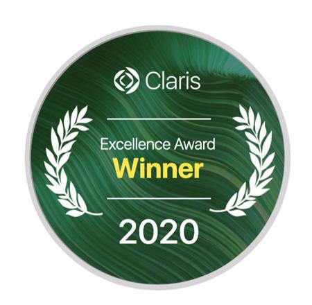 Claris Excellence Award 2020