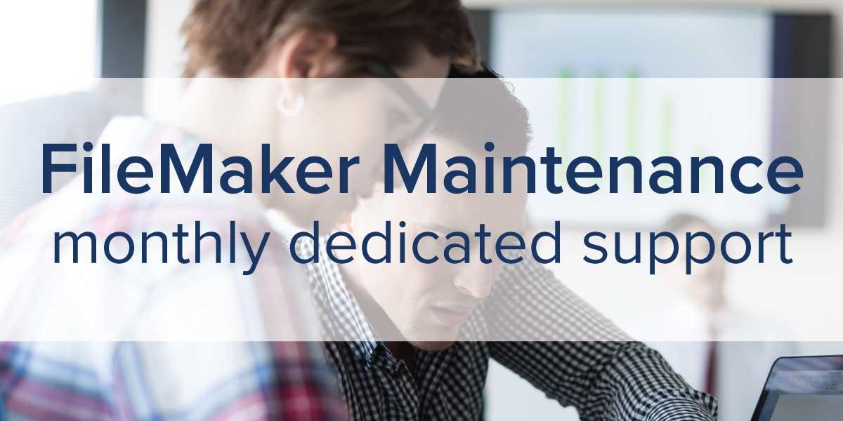FileMaker Maintenance Support