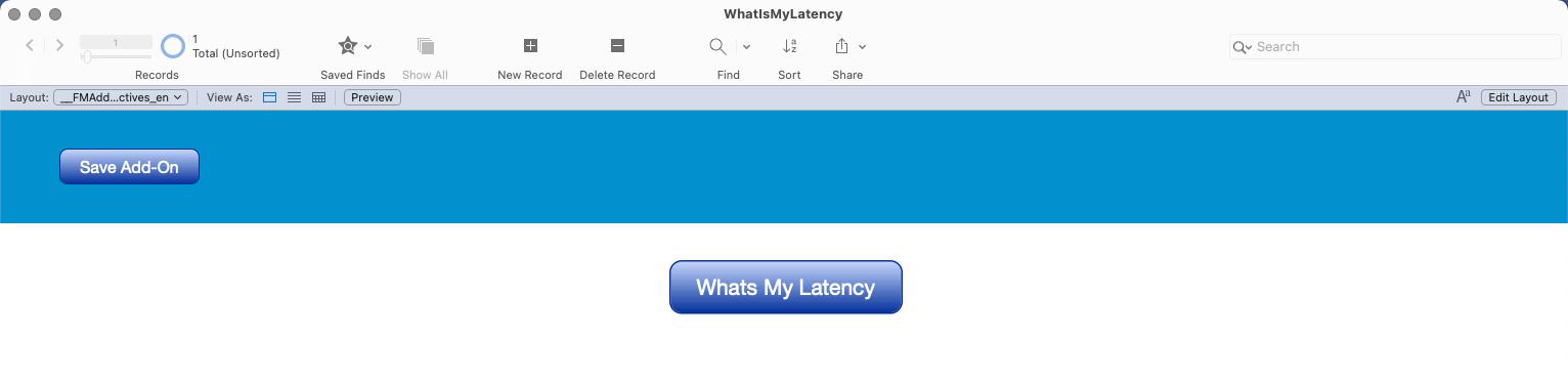 FileMaker Latency