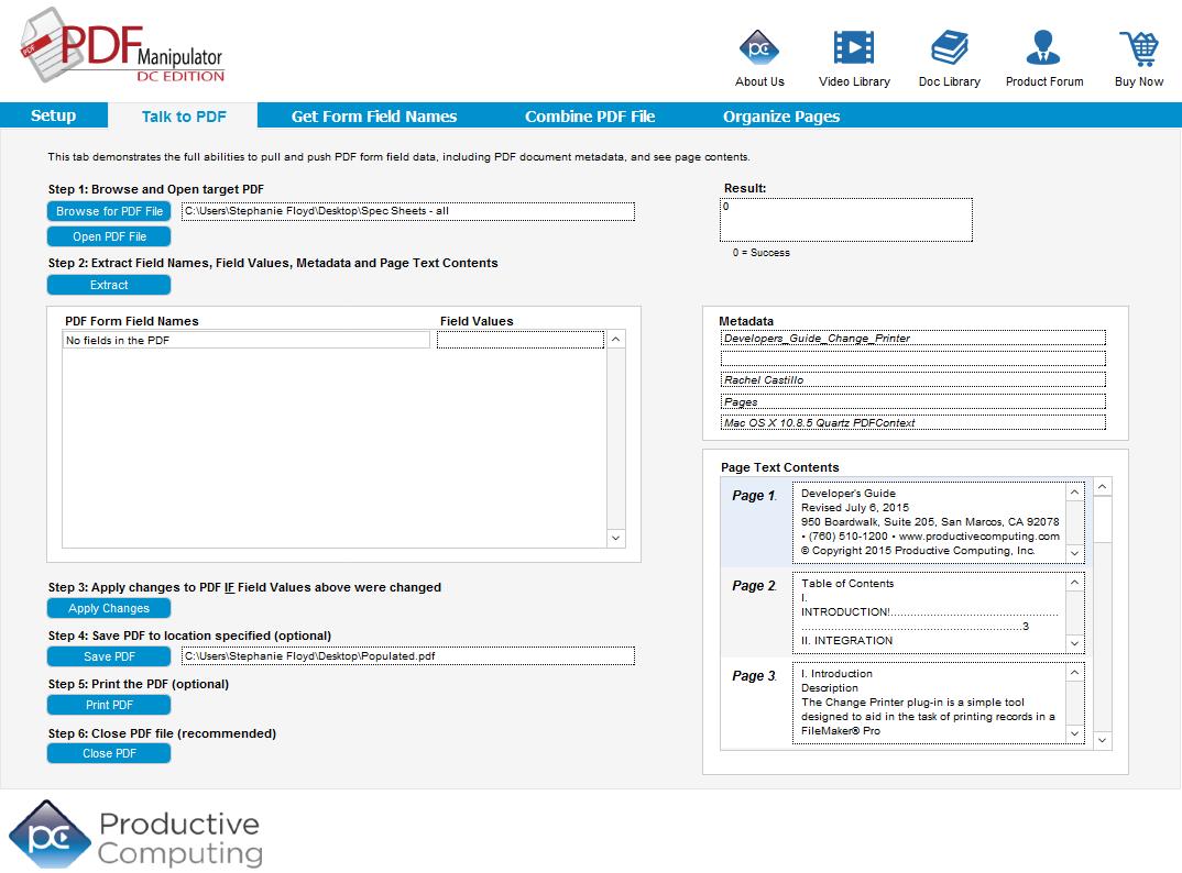 PDF Manipulator DC - Adobe FileMaker Plug-in - Productive