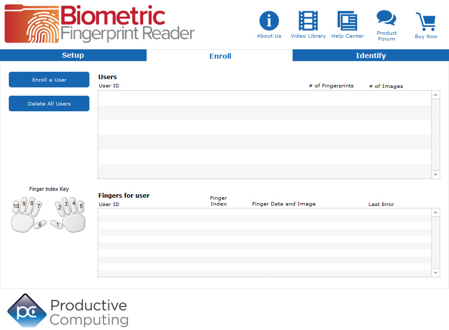 Biometric Fingerprint Reader - Productive Computing, Inc