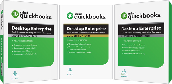 Quickbooks Enterprise Silver Gold Platinum